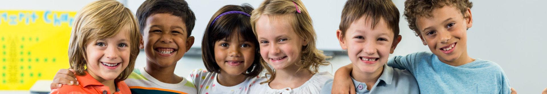 happy preschool kids